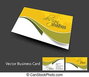 vecteur, ensemble, carte affaires