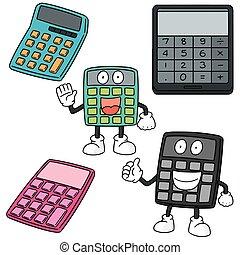 vecteur, ensemble, de, calculatrice