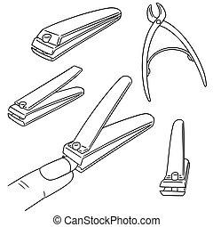 Ciseaux à Ongles Vecteur Illustration Plat Illustration Métal