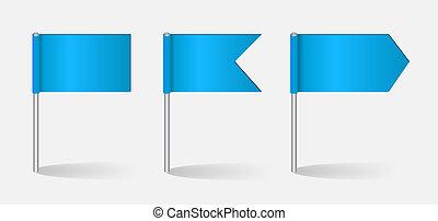 vecteur, ensemble, drapeaux, illustration