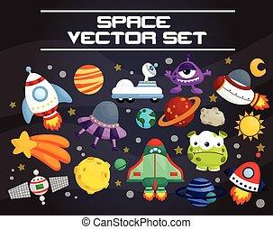 vecteur, ensemble, espace