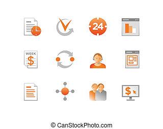 vecteur, ensemble, finance, icônes