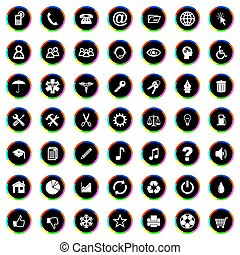 vecteur, ensemble, icônes