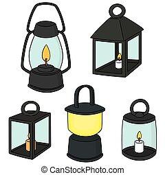 vecteur, ensemble, lanterne