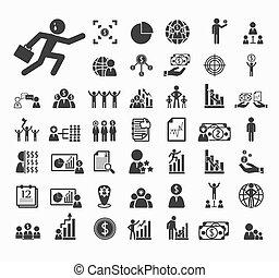 vecteur, ensemble, ressource, humain, icônes