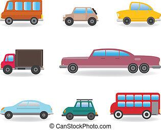 Ensemble camions voitures vecteur vue haut d taill illustration vecteurs rechercher - Voiture vue de haut ...