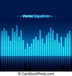 vecteur, equalizer., illustration.