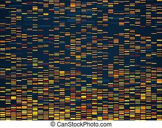 vecteur, essai, concept, visualization., genomes,...