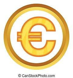vecteur, euro, icône