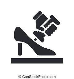 vecteur, fabrication, chaussure, illustration