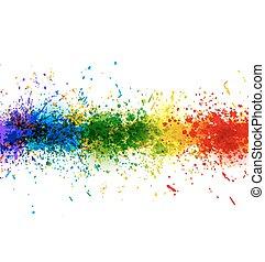 vecteur, fait, coloré, peinture, affiche, arrière-plan., clair, stains., eclabousse, bannière
