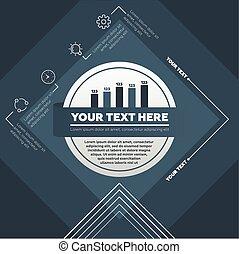 vecteur, fait, icônes, lignes, infographic, gabarit