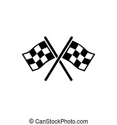 vecteur, finir, plat, drapeaux, icône