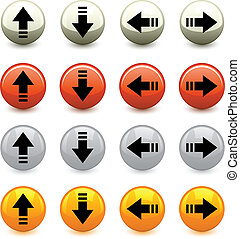 vecteur, flèche, boutons