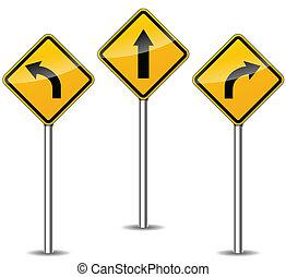 vecteur, flèches, signes