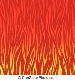 vecteur, flammes, fond