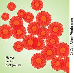 vecteur, fleur, fond
