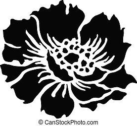 vecteur, fleur, illustration