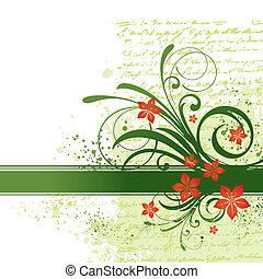 vecteur, fleurs, branches, illustration