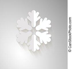 vecteur, flocon de neige