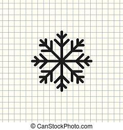 vecteur, flocon de neige, icône