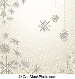 vecteur, flocons neige, fond