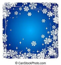 vecteur, flocons neige, fond, noël, décoratif, joyeux