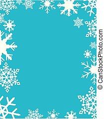vecteur, flocons neige, illustration
