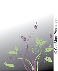 vecteur, floral