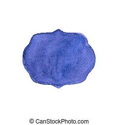 vecteur, fond, aquarelle, violet, cadre, blanc, aquarelle., illustration.