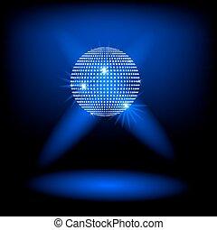 vecteur, fond, balle, disco