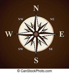 vecteur, fond, compas