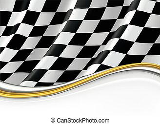 vecteur, fond, drapeau, checkered