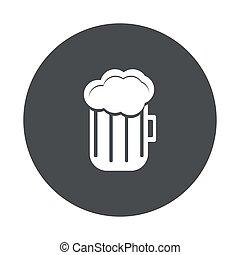 vecteur, fond, icône, gris, blanc, moderne, cercle