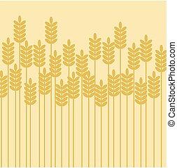 vecteur, fond, illustration, récolte céréale