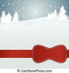 vecteur, fond, noël, illustration, flocons neige