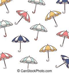 vecteur, fond, parasol, icône, parapluie
