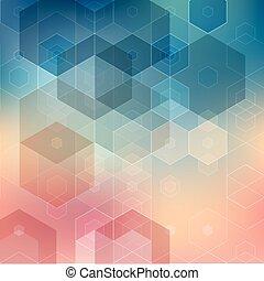 vecteur, fond, résumé, géométrique, illustration