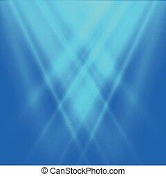 vecteur, fond, résumé, lumière bleue, brouillé, arrière-plan.