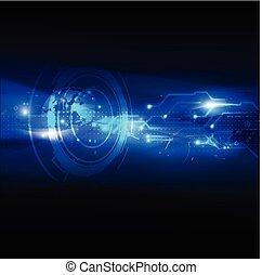 vecteur, fond, résumé, technologie numérique, futuriste, illustration
