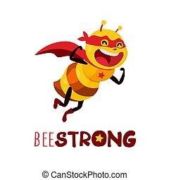 vecteur, fort, abeille