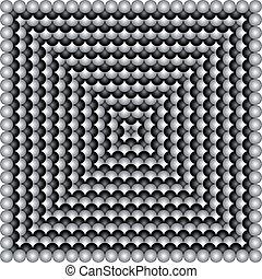 vecteur, géométrique, illusions