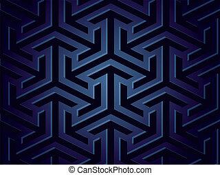 vecteur, géométrique, shapes., seamless, fond