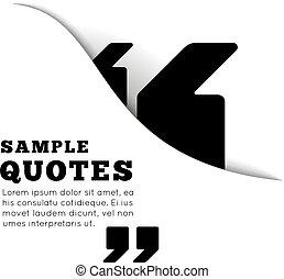 vecteur, gabarit, vide, citation, arrière-plan., illustration, blanc