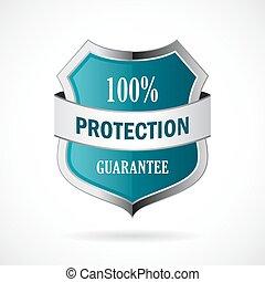 vecteur, garantie, bouclier, protection, icône