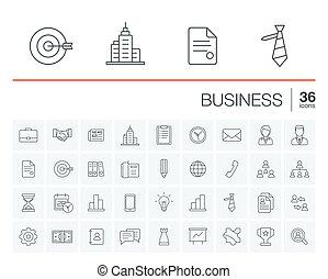 vecteur, gestion, icones affaires