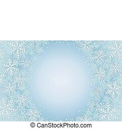 vecteur, glacial, flocons neige