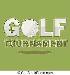 vecteur, golf, affiche, tournoi, illustration, aviateur, template., design.