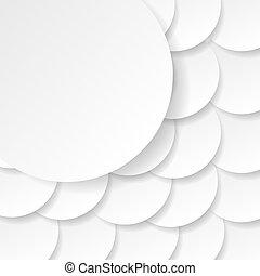 vecteur, goutte, illustration, papier, shadows., cercle, bannière
