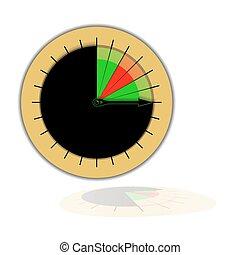 vecteur, graphique circulaire